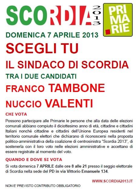 Manifesto Primarie scordia2013