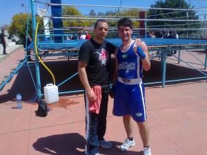 Kevin Valenti e il maestro Lanza