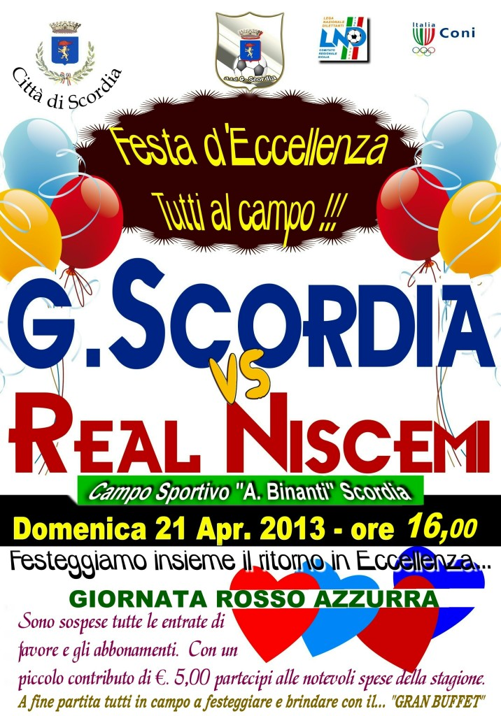 Scordia - Real Niscemi FESTA X L'ECCELLENZA