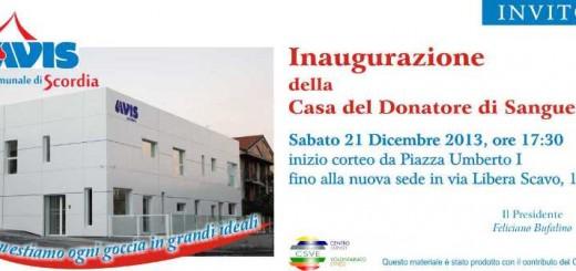 Invito inaugurazione nuova sede AVIS (1)
