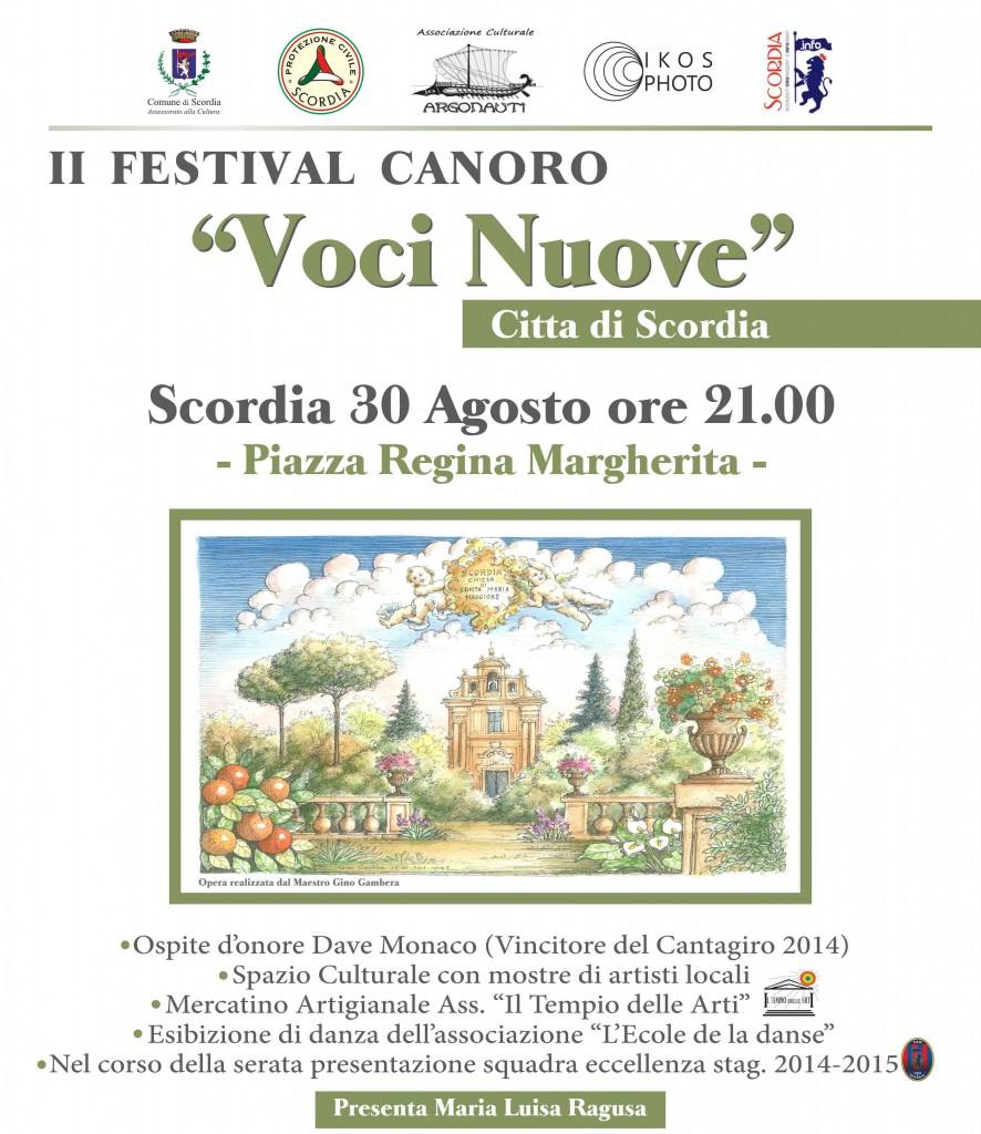 ARGONAUTI manifesto II festival canoro 2014