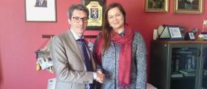 Il sindaco di Scordia Tambone e la presidente Dynnichenko Yuliya