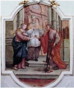 Scordia - Affresco Chiesa S. Maria Maggiore